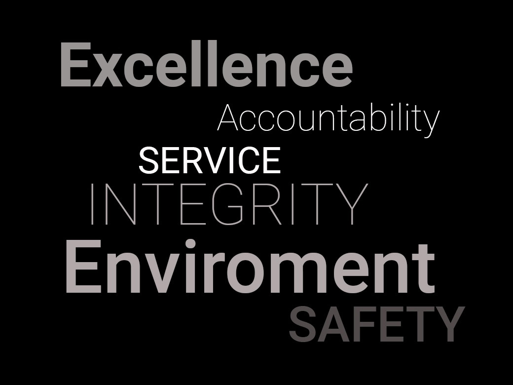 unitec marine core values, exellence, service, safety, enviroment, accountability, integrity